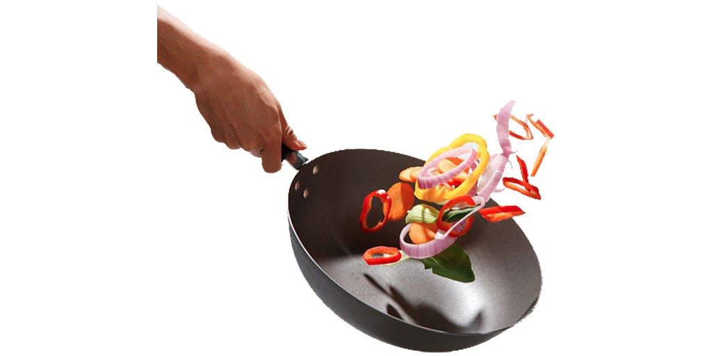 Sautéed vegetables in preparation