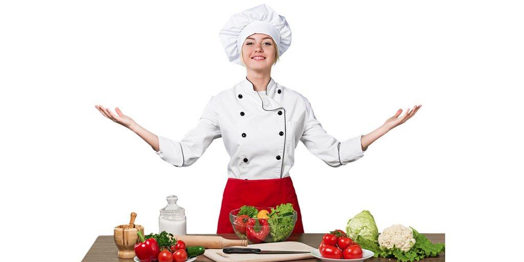 Woman chef cooker preparing a recipe