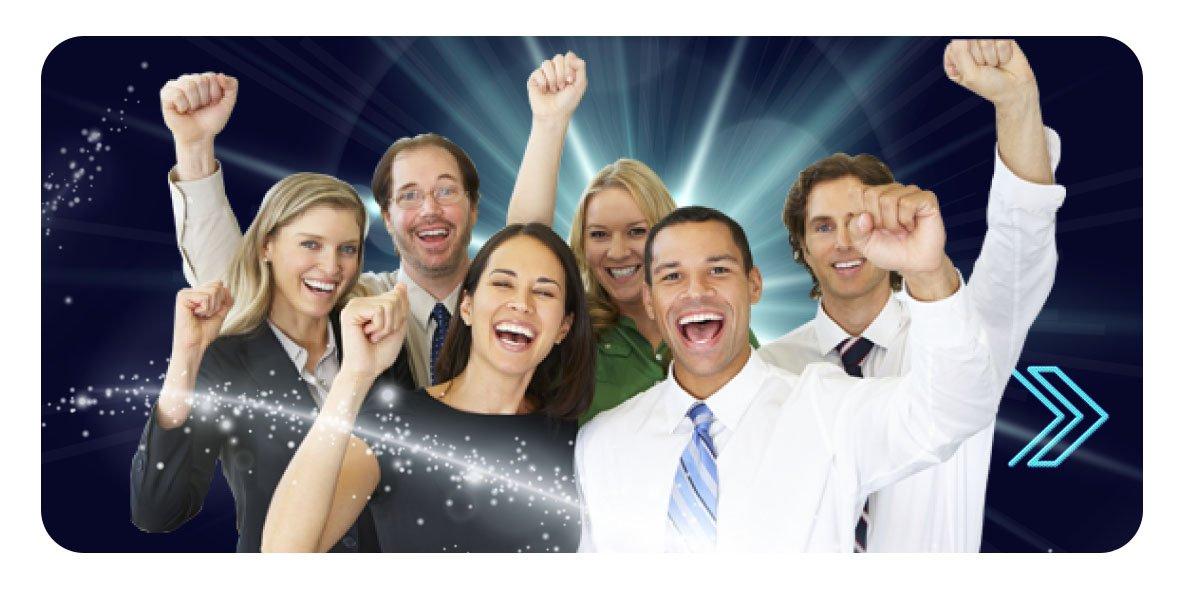 an enthusiastic team