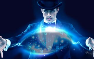 magician doing his data magic tricks